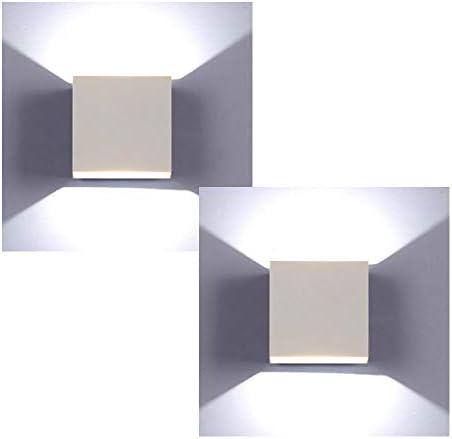 XIAJIA-2 Pezzi 6W LED Applique da parete Lampada da Parete Luce bianca fredda 6000k Moderno in Alluminio per Soggiorno Camera da Letto Corridoio Scale