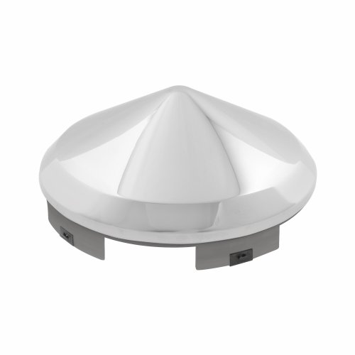 Grand General 10750 Chrome Universal Front Cone Hub Cap with 1 Lip and 6 Notches