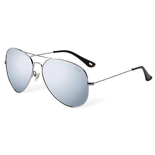 aviador de polarizadas Sunglasses silver gafas hombres TL conducción sol azul qgwS1v
