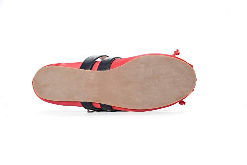 Urethane Solid APL11182 Red Shoes Womens Buckle Pumps Comfort BalaMasa EfIq8