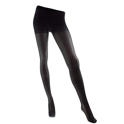(Legline Super Sheer 15-20mmHg Women's Sheer Stocking Pantyhose Closed Toe Color: Black, Size: Large)