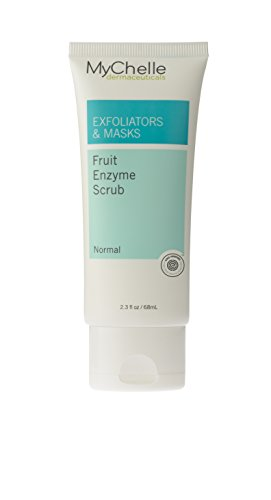 MyChelle Fruit Enzyme Scrub, Natural Exfoliating Facial Scrub with AHAs and Antioxidants for All Skin Types, 2.3 fl oz