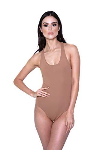 Kingston Razorback Thong Bodysuit (Mocha, Medium)