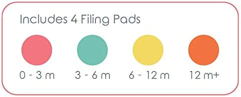 Replacement Filing Pads for Electric Baby Nail Trimmer - Cherish Baby Care and bblüv Trimö - Includes 4 Orange Filing Discs for 12 Months and Toddlers