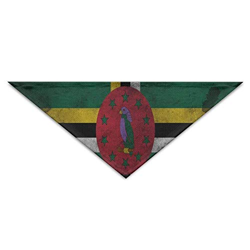 Mewisx Dominica Old Flag Dog Bandanas Scarves Bibs Scarfs Novelty Basic Neckerchief Cat Collars Pet Costume Accessory Kerchief Holiday Birthday Gift for $<!--$11.99-->