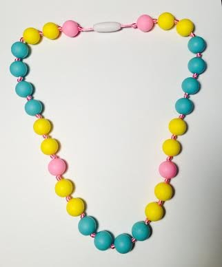 GUMEEZ JUNIOR BUTTER MINT NECKLACE - YELLOW, PINK, TURQUOISE