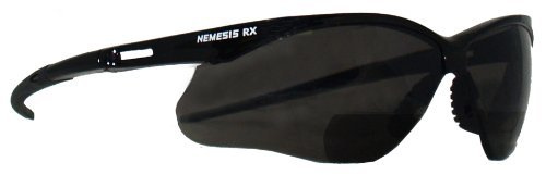 Jackson Safety 22516 V60 Nemesis RX Reader Safety Glasses, Smoke Lenses with +1.5 Diopters, Black Frame (Pack of 6) by Jackson -