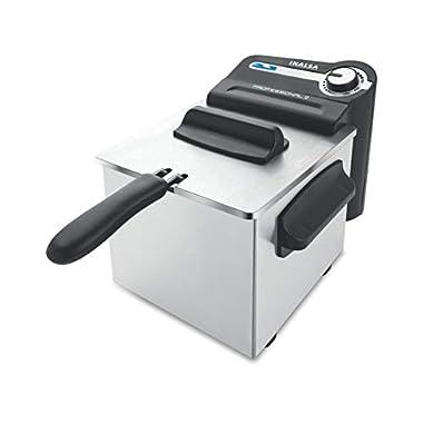 Inalsa Professional 2 Fryer, 18/8 Steel, 2 Liter, Digital Timer, 1700 W, Detachable, Dishwasher Safe, European Energy Efficiency Standard, Stainless Steel, (Grey) 8
