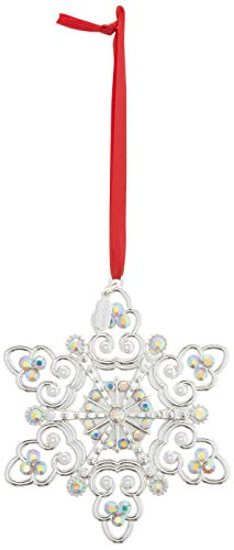 Lenox 2018 Snow Majesty - Crystal Christmas Tree Ornaments