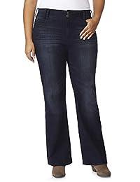WallFlower Womens Plus-Size Instastretch Curvy Bootcut Jeans
