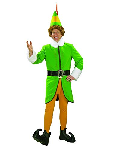 Rubie's Men's Buddy The Elf Deluxe Costume, Multi Colored -