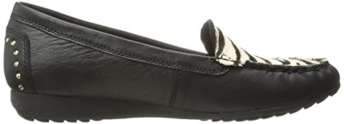 Skechers Mujeres De Roma Slip-On Loafer Black/Zebra