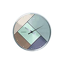 Cloudnola Rubik Silver Metal Wall Clock and Wall Decor, 8 inch Diameter, Battery Operated Quartz Movement, Silent Non Ticking