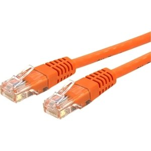 StarTech.com 25 ft Cat 6 Orange Molded RJ45 UTP Gigabit Cat6 Patch Cable - 25ft Patch Cord - Category 6 for Network Device - 25ft - 1 Pack - 1 x RJ-45 ...