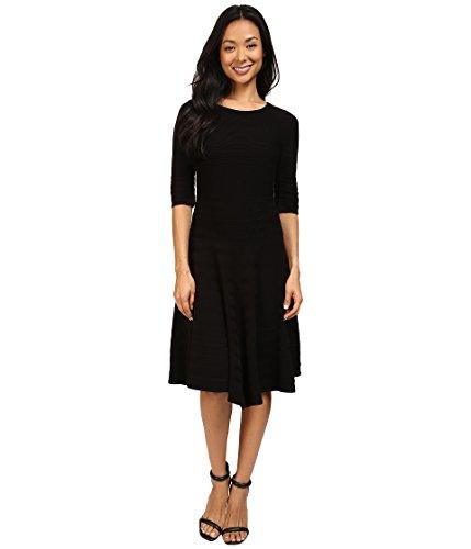 Ivanka Trump Women's Fit and Flare Sweater Dress Black Dress XS