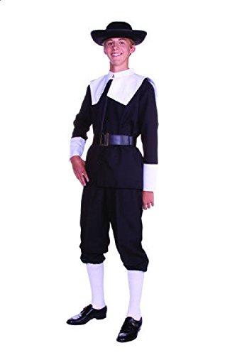 Dead Raggedy Ann Doll Costume (OvedcRay Pilgrim Teen Size Boy Adult Puritan Amish Thanksgiving Holidays Costume)
