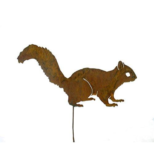 Elegant Garden Design Alert Squirrel Garden Pick, Rusty Patina