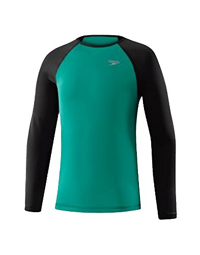 Speedo Girls Long Sleeve Fashion Rashguard, Mint Leaf