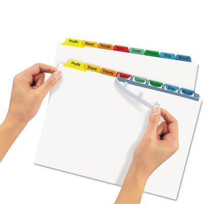 Index Maker Divider w/Multicolor Tabs, 8-Tab, Letter, 25 Sets/Box, Sold as 25 Set
