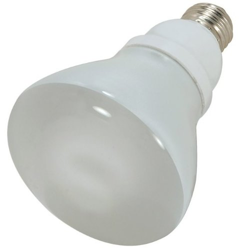 (Case of 12) Satco S7247 15-Watt (65W Equal) 2700K R30 Compact Fluorescent Lamp