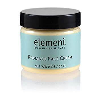 elemeni Radiance Face Cream, 2 oz, Organic Rosehip Orange Stem Cells For Aging Gracefully, Anti-Aging Super Food Peptides, Clean Formula Absorbs Easily, Non Greasy Under Makeup, Use Day and Night