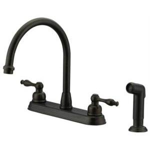 Mainline Traditional 1.5 GPM Kitchen Faucet Two Handle With Spray, Oil  Rubbed Bronze