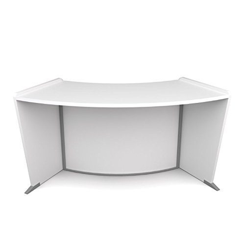 Bowery Hill Wheelchair Accessible Curved Reception Desk in White