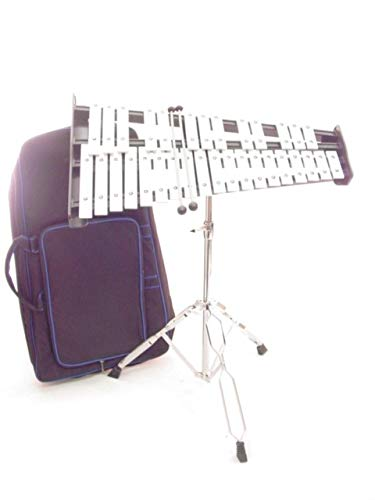 32 Key 2.5 Octave Xylophone w Stand Case and Mallets Pro Percussion GLOCKENSPIEL by EDM
