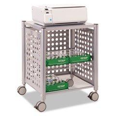 - Deskside Machine Stand, Two-Shelf, 21-1/2w X 17-7/8d X 27h, Matte Gray By: Vertiflex