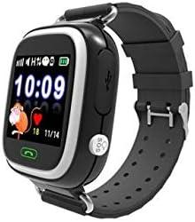 INKASUS Kid Safe - Reloj de Pulsera con Bluetooth, GPS para niños, Color Negro