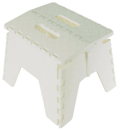 Folding Step Stool with Carry Handle white Home Connection
