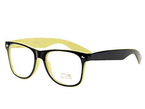 Goson Vintage Wayfarer Style Hipster Nerd Clear Lens Glasses