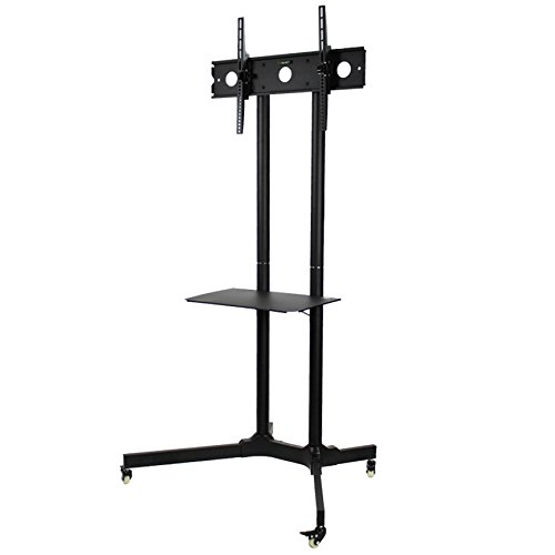 NavePoint Flat Panel TV Cart Height Adjustable 30'' to 65'' Mobile Stand w/Wheels