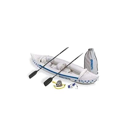 Amazon.com: SEA EAGLE 330 Deluxe - Canoa hinchable para 2 ...