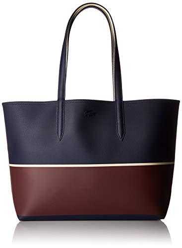 Lacoste Women Anna Fantaisie Shopping Bag, Peacoat Cabernet -