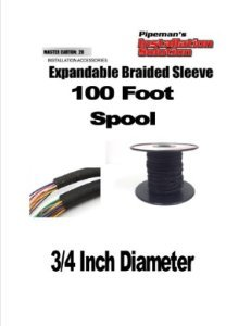BLACK 3/4 100FT BRAIDED EXPANDABLE FLEX SLEEVE WIRING HARNESS LOOM WIRE COVER