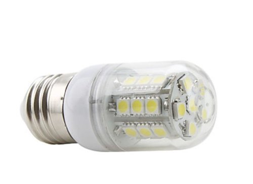 FACTOP LED Corn Bulb 110V E27 27x5050 SMD 35W 300LM 5500-6500K Natural White Light