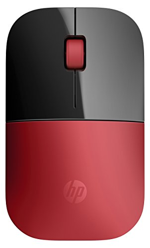 HP Z3700 Red Wireless Mouse RF Optical 1200DPI Black - Black Rf Wireless Optical Mouse