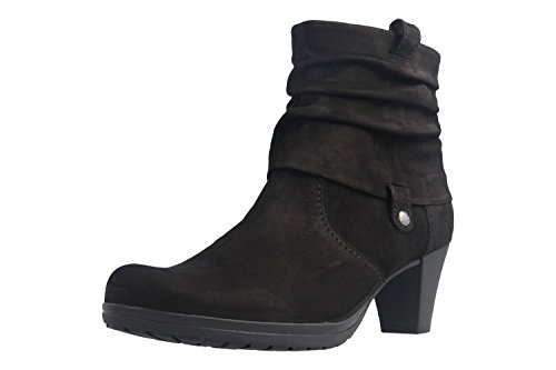Gabor Brignall Womens Black Leather Heeled Boots