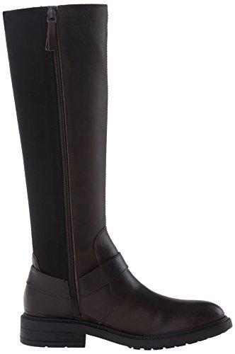 Nine West Women's Galician Leather Knee-High Boot Dark Brown/Black eFfv00oH