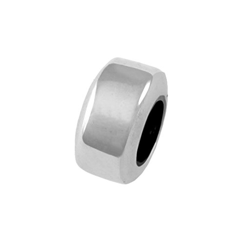 Roundel Spacer - Simple Round Keeper/Spacer Large Hole Sterling Silver Charm Bead
