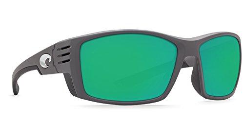 Costa Del Mar Cortez 580G Cortez, Matte Gray Green Mirror, Green - Costa Sunglasses 580g