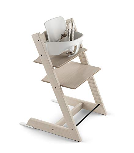 Stokke 2019 Tripp Trapp High Chair, Includes Baby Set, Whitewash