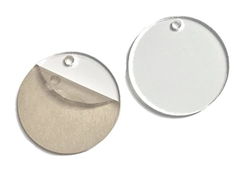 Brooke Acrylic (Clear Acrylic Round Circle Disc Blanks - 20 Pieces - 1/8