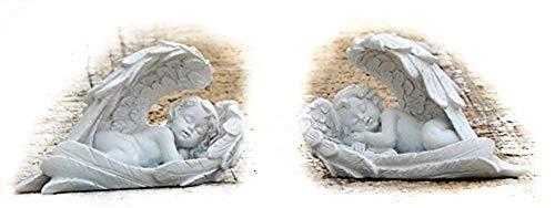 Bellaa 26447 Cherub Statue Baby Angel Cupid Loves Child Decor
