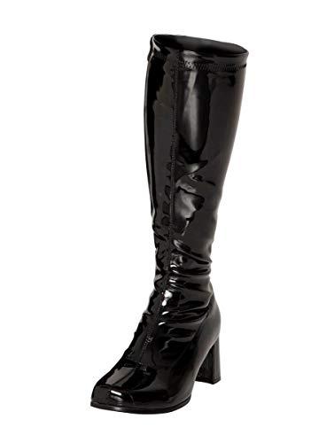Shoes donna Black ginocchio Stivali al Buckle Pv8dqYq