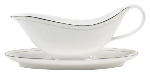 Nikko Ceramics Platinum Beaded Pearl Gravy Boat & Stand (Pearl Gravy Boat)