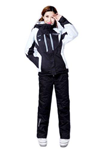 SPYDERレディーススノーボードスキーウェア上下セットAPF-0201(ブラック、M)G-HOUSEオリジナルグッズ付