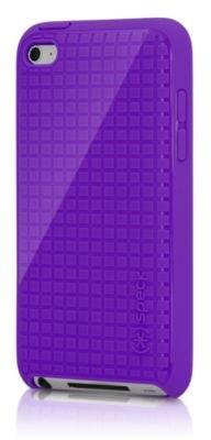 Speck iPod Touch 4th Generation PixelSkin HD Silicone Skin Case Purple (Speck Pixelskin Ipod 4 Case)
