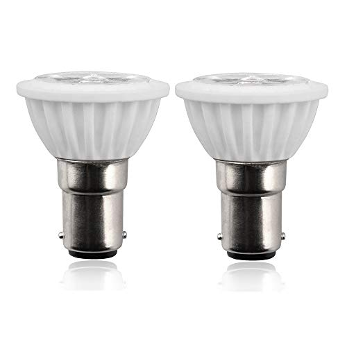 Aluxcia ALR12 BA15D LED Elevator Light - 6435/FR 12V BA15D Frosted Light Bulb 30W Halogen Replacement ALR12 Flood Light for RV Camper Trailer Motorhome Boat Lighting, Warm White 3000K, -